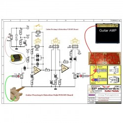 Guitar PreAmp - Distortion PCB TS9 on
