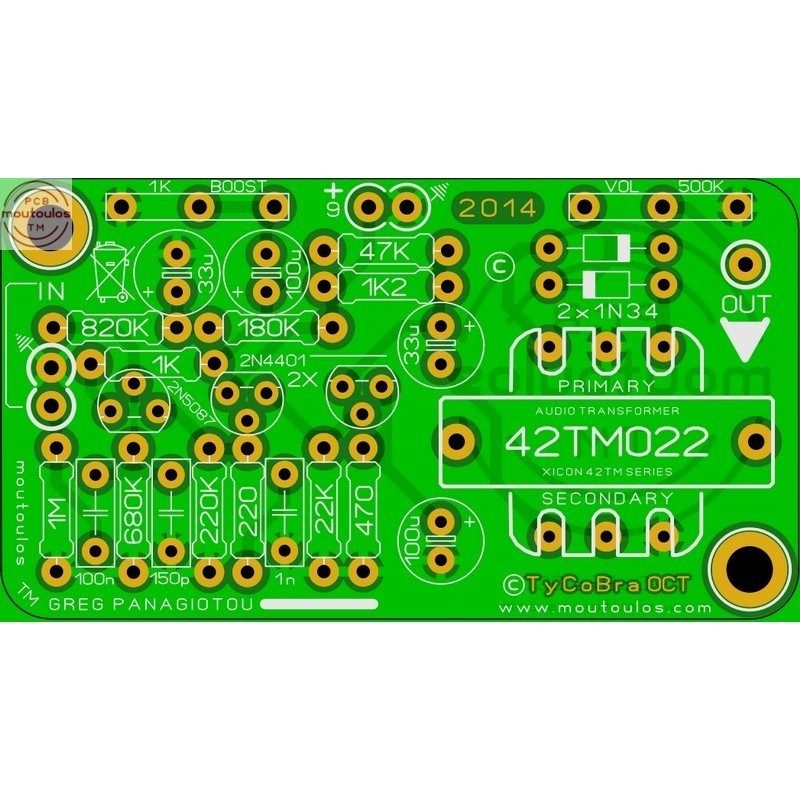 Renometer (Eq-Boost-Bright) Replica PCB
